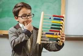Abacus teacher with good pay