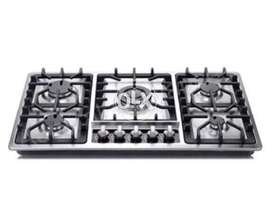 Admiral Hob 5 burners Stainless Steel model with heavy cast iron grids