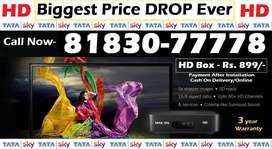 ಅತ್ಯುತ್ತಮ ಕೊಡುಗೆ!Rs.888 Tata Sky HD Box - Airtel DTH Tatasky D2H Dish