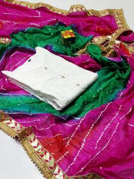 New Arrivals  Eid Collection   Indian Chunnri Silk with pasted