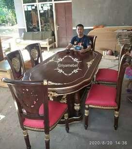 Kursi makan model seky kayu jati