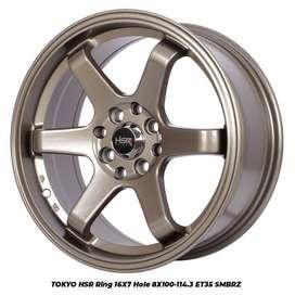 Velg Mobil HSR Type TOKYO R16X7 H8X100-114,3 ET35 SMBRZ