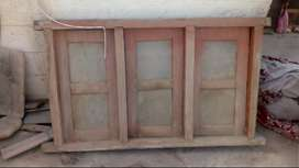 Window (3 door) Wooden & Metal Door