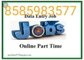offering part time work home based data entry call or missed call