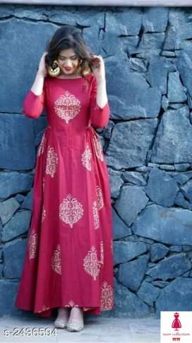 Ethnic Pure Rayon 14 Kg Gown