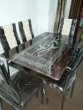 New 6 Seater Glass top Dining Table for sale urgent