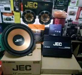 Plus Pasang,Subwoofer JEC+Power JEC+Speker JEC+Tweeter 1set+Box+Kabel