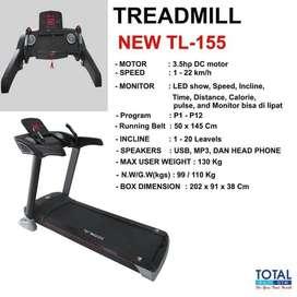Treadmill Eelktrik TL 155 Motor 3.5 HP Murah