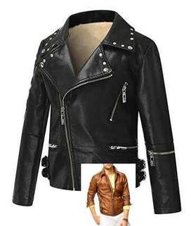 Men and women Leather jacket manufacture kids boy girl young style