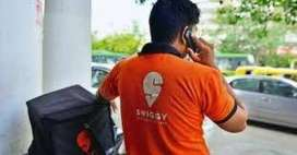 swiggy food delivery boys required