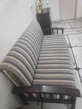 3+1+1 Sofa set plus Center table with Glass Top for sale