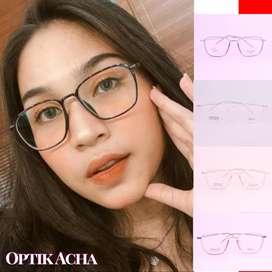 Kacamata Min Frame Original Gratis Lensa Box Lap COD Promo PPKM M.U