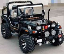 Black open  modified willy jeep