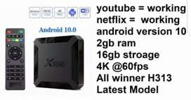 Smart Android Tv Box X96q Mini Quad Core 2g+16g 4k 60fps