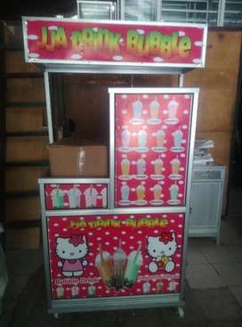 Rombong / Gerobak Mini Paket Bubble Drink Dan Capcin
