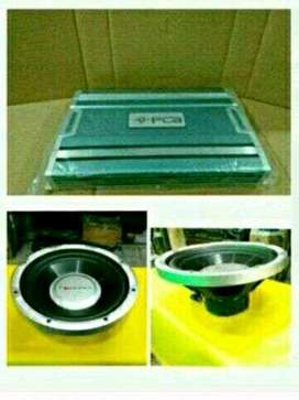 """Paket PCA 4 Channel Power & Subwoofer Nakamichi 12"""" 2koil 25000W"""