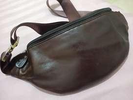 Tas pinggang/lempang asli kulit
