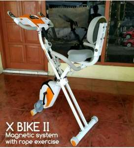 statis bike xrope dengan sandaran