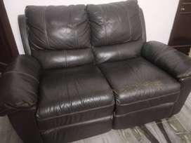 @home 2 seater leather sofa