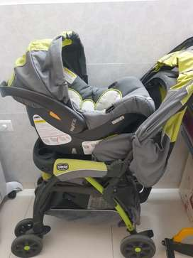 Chicco Baby stroller with car seat