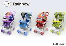 Stroller Labeille Rainbow A019 Stroler Lipat 1 tangan Dorongan Bayi