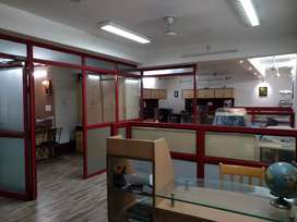 Fully furnished 900 sqft hall rent for any type office purpose