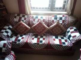 Sofa with covers and cutions