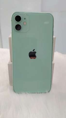 IPHONE 11 128GB  GREEN WITH BILL CHRGER AVAILABLE IN FLAWLESS CNDITIN