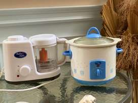 Slow cooker dan food maker(blender+kukus)