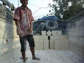 Bahan bangunan batu pondasi kumbong batukali ringan hebel pres batako