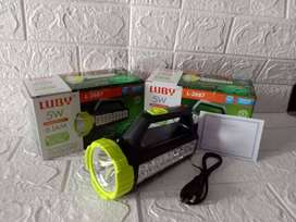 PROMO DONG-SENTER EMERGENCY LUBY L 2687 2IN1 DICAS ULANG 5W 1500MAH-OK
