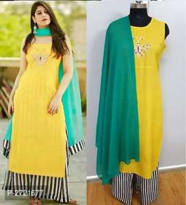 Embroidered Kurti Pant Dupatta SET {Scroll to see more samples