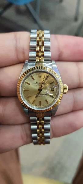 Original ladies Rolex datejust two-tone available.Imran Shah dealer