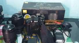 Kamera nikon D7200 full 1 set, jarang dipakai masih mulus