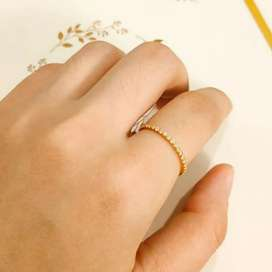 Cincin Emas asli model Full permata