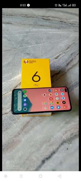 REAL ME 6 PRO 8GBRAM 128GB STORAGE, LIGHTNING ORANGE..