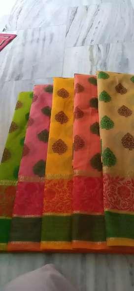 Banarsi cotton saree fancy
