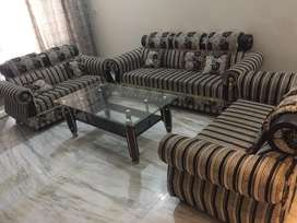 7 seater sofa set with table well maintainted