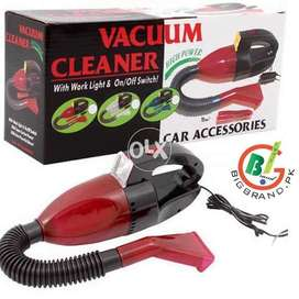 Red Car Vacuum Cleaner With USB 3 In 1 Car Socket