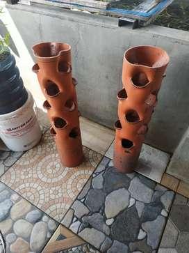 Pot tower PVC bunga/sayur