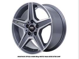 Velg Terios/RUsh/Xpander/Ertiga ring 16 lebar 7,5 warna grey polish