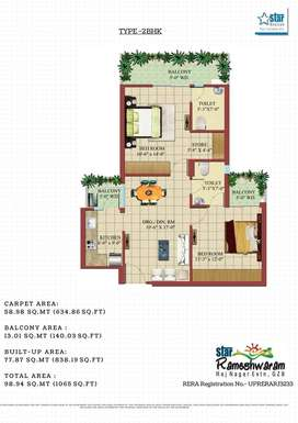 2bhk flat Star Rameshwaram in Raj nagar extension, Ghaziabad