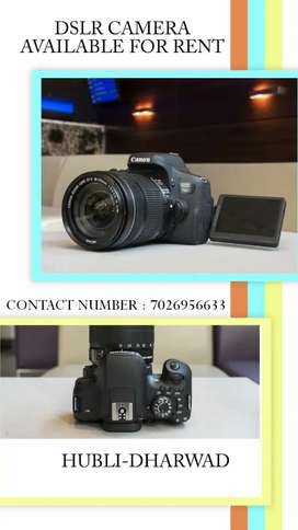 DSLR CAMERA AVAILABLE FOR RENT AT REASONABLE PRICE