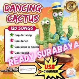 USB Charger! Termurah! Mainan Kaktus Cactus Goyang Dance Recording Lam