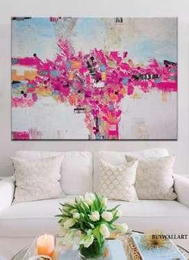 lukisan kanvas cat minyak ukuran 150x120 harga 1.242.000