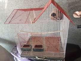 Used indoor metal bird cage.