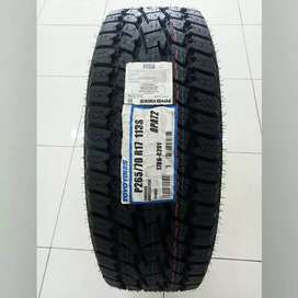 BAN MOBIL BARU IMPORT TOYO OPEN COUNTRY AT 265/70 RING 17 HILUX PAJERO