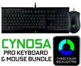 J > Razer Cynosa Pro Bundle Keyboard Mouse