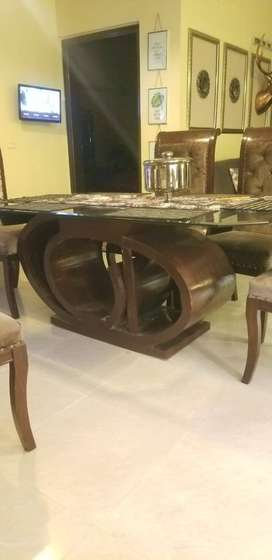 Slighly Used Designers Dining Table For Sale.