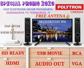 TV LED POLYTRON 32 Inch NEW  HD  USB Movie cenemax garansi 5 th ori